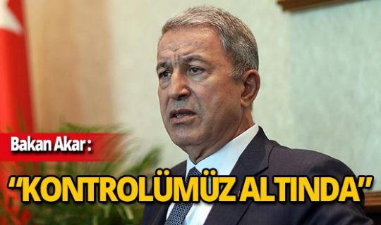 Bakan Akar'dan Barış Pınarı Harekatı açıklaması