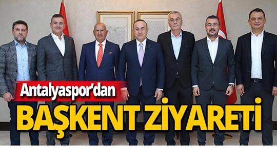 Bakan Çavuşoğlu'ndan Antalyaspor'a destek