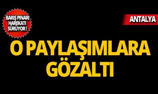 Barış Pınarı Harekatı'na ilişkin paylaşıma gözaltı!