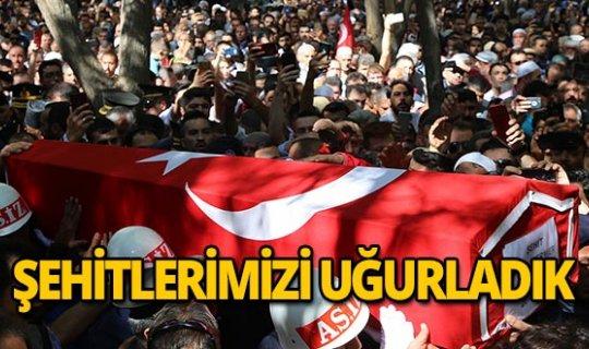 Barış Pınarı Harekatı şehitlerine son veda!