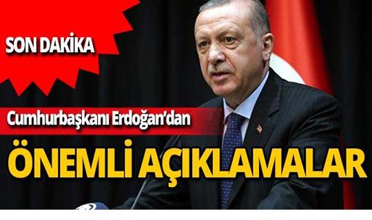 Cumhurbaşkanı Erdoğan: Türkiye'nin ve Türk milletinin başını daima dik tutacağız
