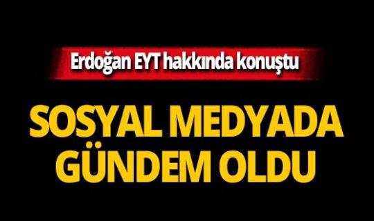 Cumhurbaşkanı Erdoğan yanıtladı, sosyal medyada gündem oldu
