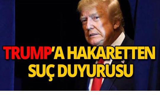 """""""Cumhurbaşkanına hakaret"""" sebebiyle suç duyurusunda bulundu"""