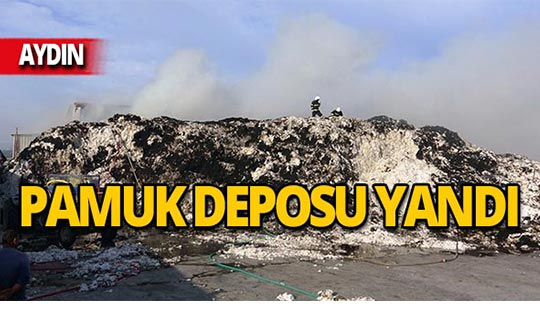 Depo yangınında 2 bin ton pamuk yandı