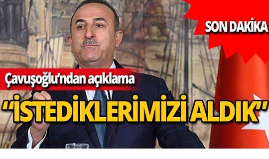 """Dışişleri Bakanı Çavuşoğlu: """"Bu bir ateşkes değildir"""""""