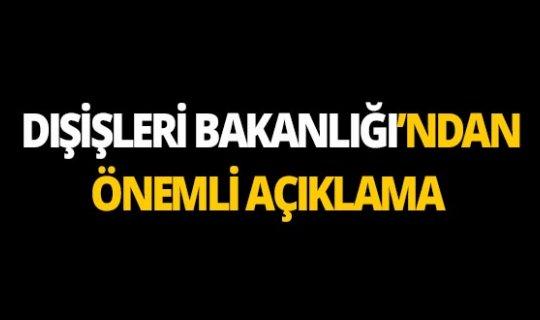"""Dışişleri Bakanlığı: """"Türkiye, Fırat'ın doğusunda güvenli bölgeyi hayata geçirmekte kararlıdır"""""""