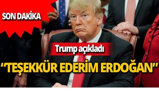 """Donald Trump: """"Türkiye'den güzel haberler"""""""