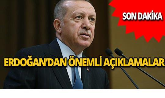 Erdoğan havalimanında konuşuyor