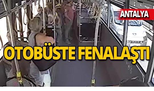Fenalaşan yolcu için otobüsü acile çekti!