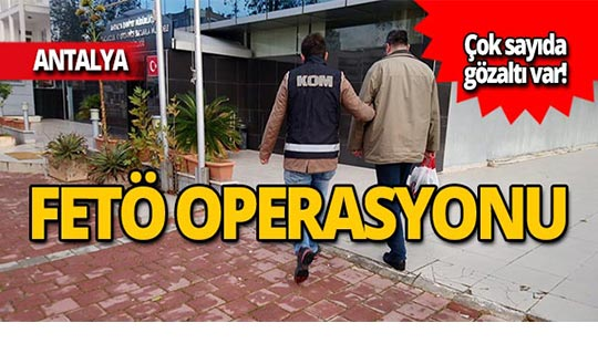 FETÖ operasyonunda gözaltına alındılar!