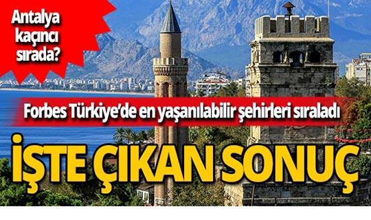 İşte en yaşanılabilir Türkiye şehirleri