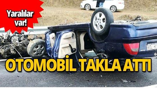 Kayganlaşan yolda feci kaza! Yaralılar var