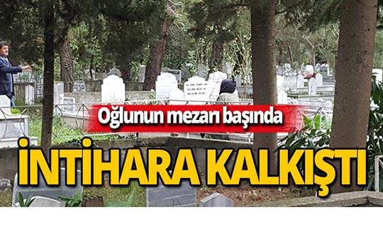 Mezarlıkta kendini öldürmek istedi!
