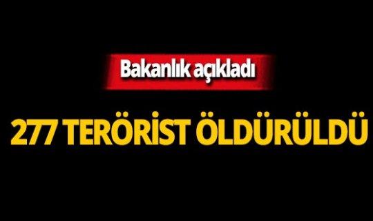 MSB açıkladı: 277 terörist etkisiz hale getirildi!