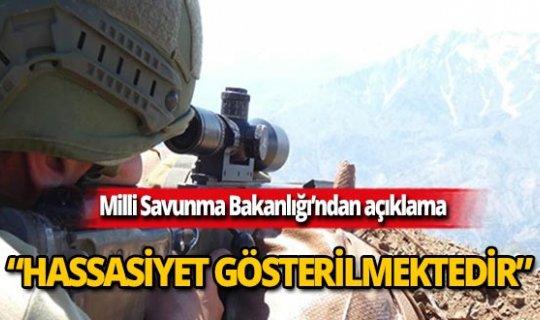 MSB: Barış Pınarı Harekâtı'nda sadece teröristler hedef alınıyor