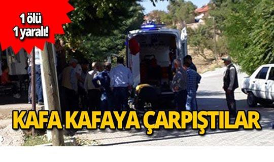 Otomobil ile motosiklet çarpıştı: 1 ölü 1 yaralı!