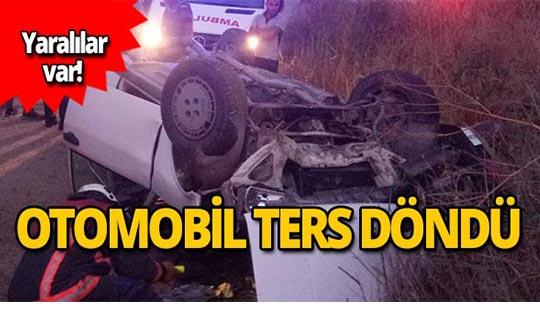 Otomobil takla attı! Yaralılar var