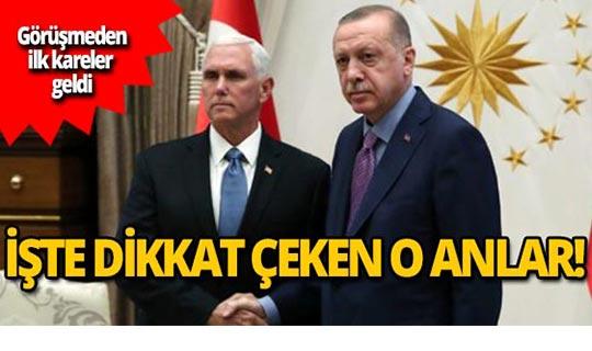 Pence sarılmak istedi, Erdoğan sadece tokalaştı