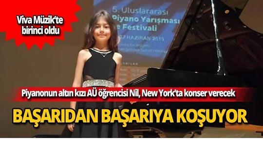 Piyanonun altın kızı AÜ öğrencisi Nil, New York'ta konser verecek