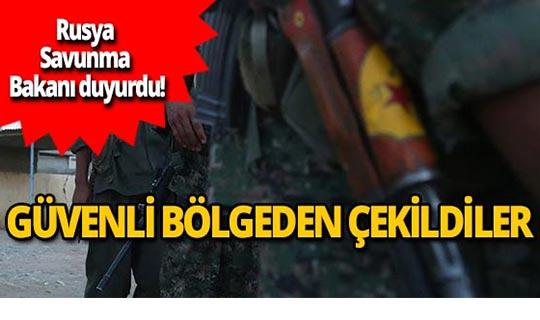 Rusya, YPG/PKK'nın güvenli bölgeden çekildiğini açıkladı