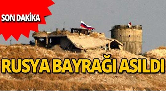 YPG'nin karargahına Rusya bayrağı asıldı