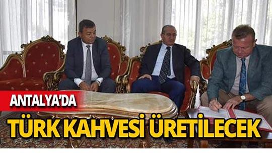 Türk kahvesi üretimi için protokol imzalandı
