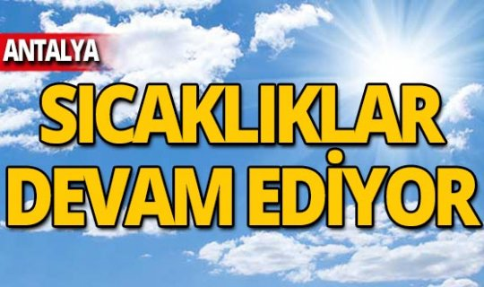 11 Kasım Antalya hava durumu