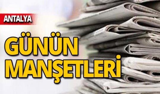 12 Kasım 2019 Antalya'nın yerel gazete manşetleri