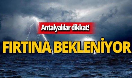 15 Kasım Antalya hava durumu