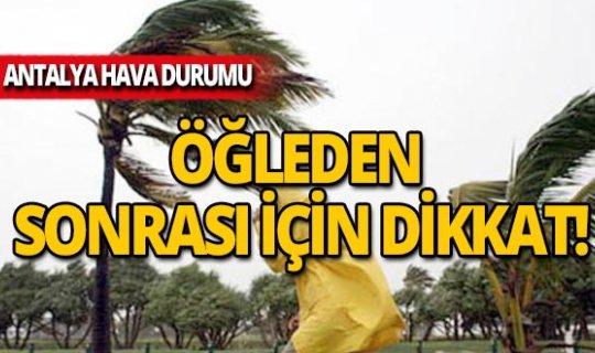 19  Kasım Antalya hava durumu