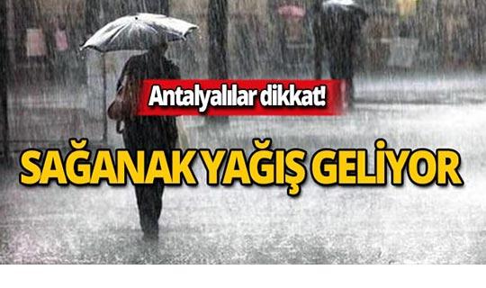 1 Kasım Antalya hava durumu