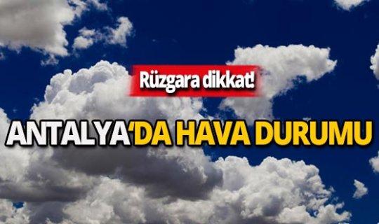 20 Kasım Antalya hava durumu