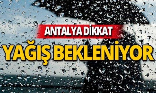 29 Kasım Antalya'da yağmur bekleniyor