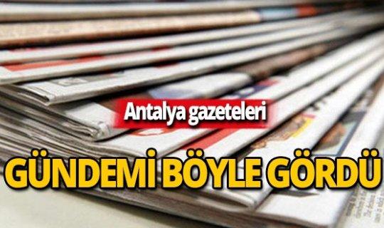 2 Kasım 2019 Antalya'nın yerel gazete manşetleri
