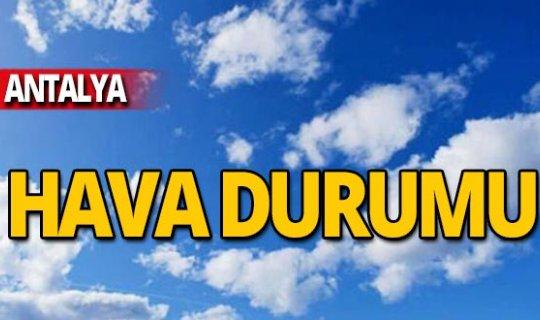 3 Kasım Antalya hava durumu