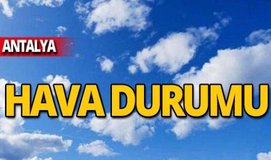 6 Kasım Antalya hava durumu