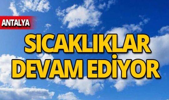 7 Kasım Antalya hava durumu