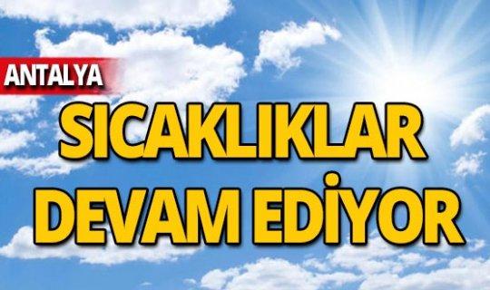 8 Kasım Antalya hava durumu