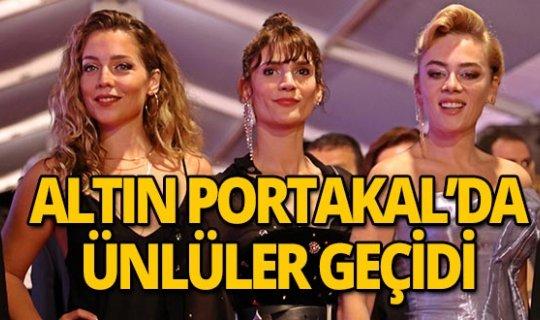Altın Portakal Film Festivali'nde kırmızı halıda ünlüler geçidi