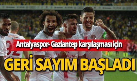 Antalya'da Gaziantep Futbol Kulübü maçı için geri sayım başladı