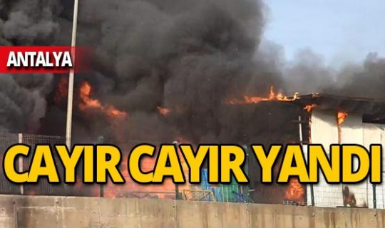 AVM deposunda korkutan yangın!