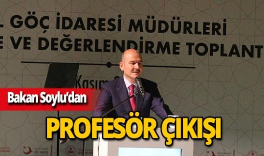 """Bakan Soylu: """"Profesör olması cahil olmasını engellemez"""""""