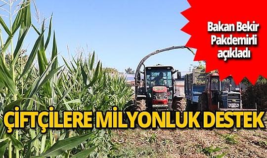 Çiftçilere 284 milyon liralık destek