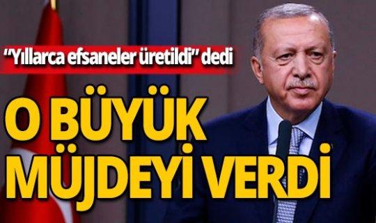 Erdoğan, Türkiye'yi uçuracak müjdeyi verdi