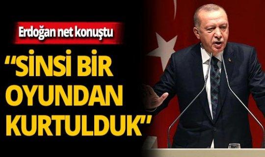 """Cumhurbaşkanı Erdoğan: """"Ülkemizi sinsi oyundan kurtarmayı başardık"""""""
