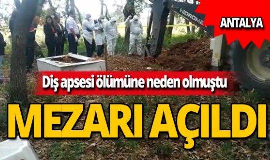 Diş apsesinden ölüm iddiası mezar açtırdı