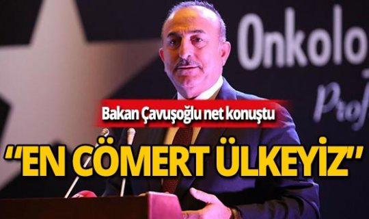 """Bakan Çavuşoğlu: """"Türkiye, insani ve kalkınma yardımlarında dünyada birinci sırada"""""""