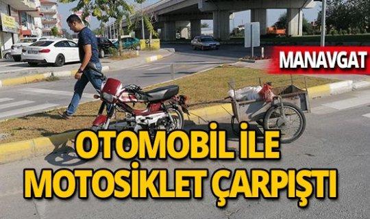 Feci kaza: Otomobil ile motosiklet çarpıştı