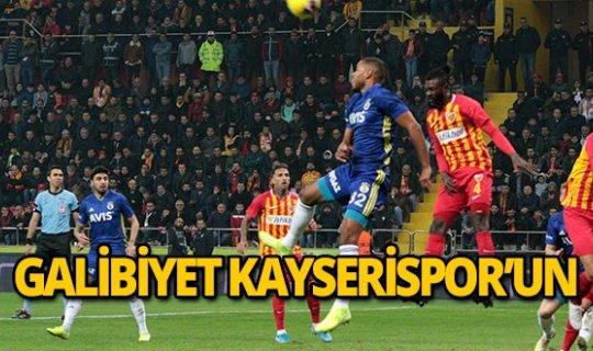 Kayserispor maçtan galip ayrıldı!