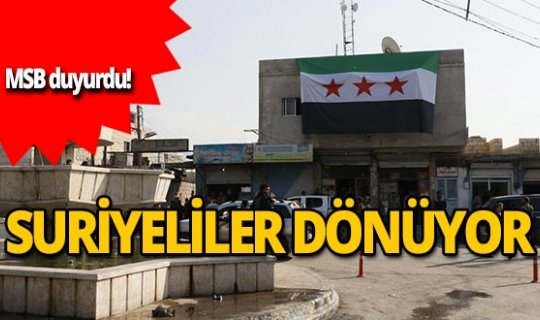 MSB: Suriyeliler süratle Rasulayn ve Telabyad'a dönüyor